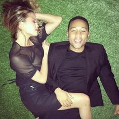 And then the time they laid on fake grass for seemingly no reason other than to make all of our hearts burst. | 24 Times Chrissy Teigen And John Legend Restored Our Faith In Love