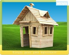 Wooden playhouse Wickey Funky Farm  503300