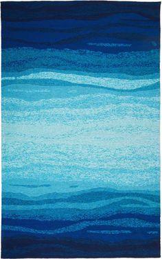 MAT Orange Vista Blue Turquoise Area Rug