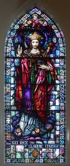 Christ as King and Ruler | File:Toomyvara St. Joseph's Church Window Tu Rex Gloriae Christe by ...