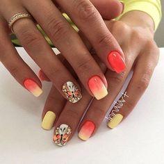 Beautiful #nails 2016, Butterfly nail art, Juicy nails, Nails ideas 2016, Nails with beads, Nails with stones, Ombre nails, ring finger nails