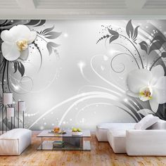 42 What You Don't Know About Large Lotus Flower Living Room Decoration Vinyl Wall Stickers - decoruntold Flowery Wallpaper, Wall Art Wallpaper, Modern Wallpaper, Wallpaper Wallpapers, Tree Wall Murals, Flower Wall Decals, Home Room Design, Condo Decorating, Bedroom Murals