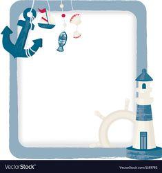 Nautical background vector image on VectorStock Transportation Preschool Activities, Nautical Background, Anchor Wallpaper, Sailor Theme, Baby Stickers, Nautical Party, Baby Party, Baby Shower Invitations, Vector Free