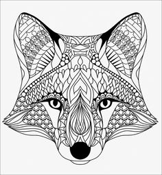 Bring your creativity to life with one of these free 101 printable adult coloring pages. Tons of beautiful options to spend hours getting lost in the world of coloring! Fox Coloring Page, Animal Coloring Pages, Coloring Book Pages, Printable Coloring Pages, Coloring Pages For Kids, Unique Coloring Pages, Mandalas Painting, Mandalas Drawing, Mandala Coloring Pages