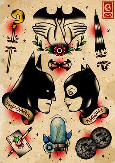 Juxtapoz Magazine - Pop Culture Tattoo Flashes by Derick James