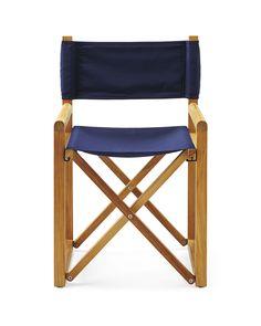 Indoor/Outdoor sunbrella and teak Director's Chair $495
