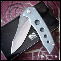 1 отметок «Нравится», 1 комментариев — #Statuskniferu (@statuskniferu) в Instagram: «Custom Jeremy Marsh @marshcustomknives MAC Roxstar, USA. Авторский нож мастера Джереми Марша…»