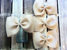 Burlap bows-Wedding bows-Wedding decorations-Summer party decorations-Rustic decor ideas