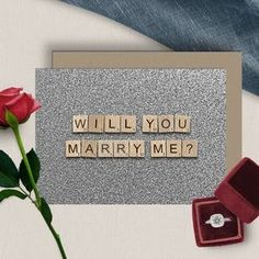 Marriage Proposal Scrabble Letters Digital Download image 2 Scrabble Tile Art, Scrabble Letters, Printable Checks, Printable Cards, 65th Birthday, Birthday Cards, Scrabble Wedding, Happy Birthday Printable, Marriage Proposals