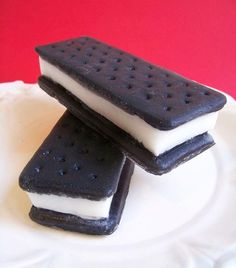 so cool!! Ice Cream Sandwich Soap by LoveLeeSoaps on Etsy, $7.00. Can use idea for salt dough