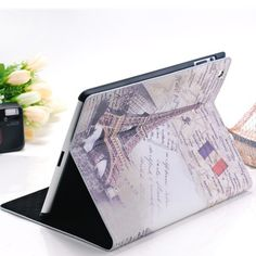 Fashionable Leather iPad folio case with retro Eiffel design Made from superior PU leatherette and plush microfiber Protects iPad without blocking its ports and controls for maximum accessibility Iphone 4, Iphone Cases, Ipad 3 Cases, Gadgets Online, Phone Shop, Mind Up, Ipad 4, Back To School, Tour Eiffel
