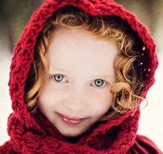 Crochet Hooded Scarf Red Riding Hood Custom Color by PurdyThings