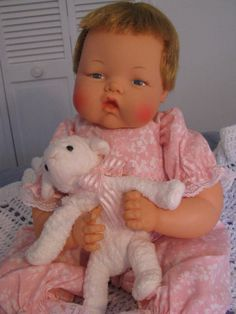 """Original 20"""" Large Thumbelina doll, WORKS, VERY CLEAN, NEW OUTFIT"""