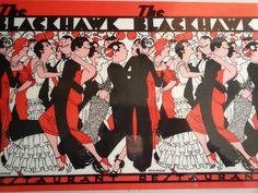 ... Chicago, 1933 Vintage Menu The Blackhawk complete cover