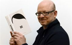 German author Timur Vermes with his book 'Er is weider da' ('Look Who's Back')
