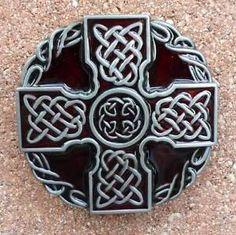 Celtic Cross belt buckle biker Irish Eternity Knot knight templar jeans shield *Affiliate Link