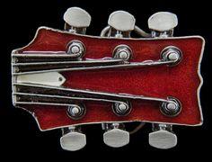 RICH BLACK GUITARS GEAD GUITAR HEAD ROCK BELT BUCKLE METAL MUSIC UNITED KINGDOM