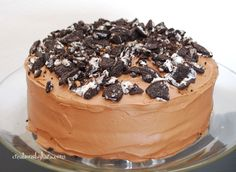 Oreo Cake with Chocolate Buttercream on MyRecipeMagic.com