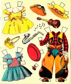 Paper Dolls~Betty and Billy -