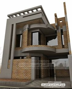 House Balcony Design, 3 Storey House Design, House Outside Design, Home Stairs Design, Village House Design, Home Building Design, Bungalow House Design, House Front Design, Modern Small House Design
