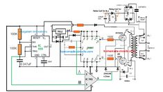 In this post we will comprehensively discuss how to build a 500 watt inverter circuit with an integrated automatic battery charger stage. Transformer Winding, Triangle Wave, Automatic Battery Charger, Power Supply Circuit, Battery Terminal, Electronic Schematics, Sine Wave, Circuit Projects, Voltage Regulator