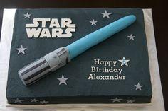 Star Wars Light Saber Birthday Cake.