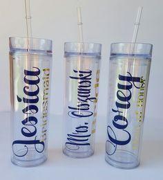 Personalized Tumbler Bridesmaid Gift GiftBride by KrisMattShop
