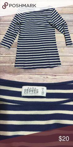 Zara Organic Cotton Top EUC Zara Tops Tees - Long Sleeve