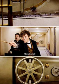 Fantastic Beasts and Where to Find Them → That moment when Pickett the Bowtruckle is in Newt Scamander's top pocket and warns him about the Niffler running away.