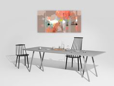 Peinture numérique style abstrait couleurs rose saumon terracotta, artiste peintre Octave Pixel, en vente à la galerie TACT :// art contemporain & abstrait - 1