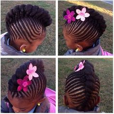 Faux hawk#hairspiration#naturalhairkids#braids#braidstwistsandbows