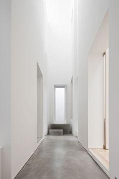 light-filled hallway // concrete