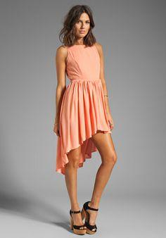 JARLO Allondra Dress in Apricot - Dresses