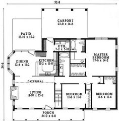Affordable Country Charm - 6227V   1st Floor Master Suite, Bonus Room, CAD Available, Corner Lot, Country, PDF, Ranch, Southern   Architectural Designs
