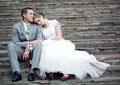 Wedding (do this pose at the end of the day with the sun directly behind the bride and groom for a stunning photo!)