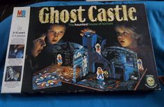 Ghost Castle Haunted House Board Game MB Games 1985 Vintage Family Fun Halloween