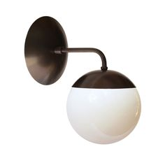 Cedar and Moss - ALTO sconce black w opal shade