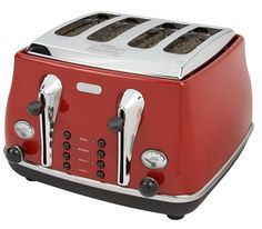 Delonghi CTO4003 Icona 4-Slice toaster red