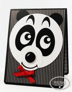 Panda Bear Punch Art - bjl