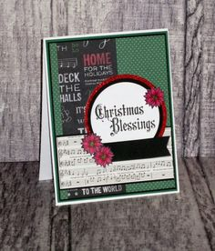 Handmade Christmas card by Amy Marshall using the Chistmas Belssings plain jane and poinsettia from the Coffee Helps stamp set by Verve. #vervestamps