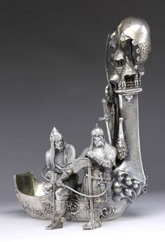 19th C. Russian Silver Kovsh;  Sold For$14,000