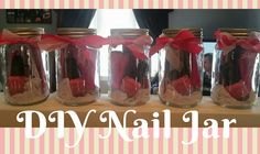 Pedicure Spa Jar - DIY  total price: under $6 per jar!