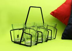 Cutting Chai glasses with stand [Buy 1 Set Of 6 Get 1 Set of 4 Free]