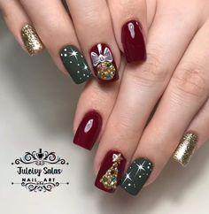 Christmas Nails, Nail Art, Beauty, Xmas Nail Art, Beleza, Xmas Nails, Nail Arts, Cosmetology