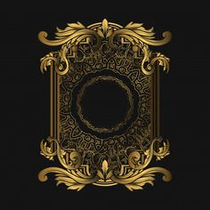 Frame Luxury with Golden Color Premium Vector Banner Background Images, Smoke Background, Retro Background, Niche Design, Design Art, Graphic Design, Decoration Photo, Sword Design, Mandala