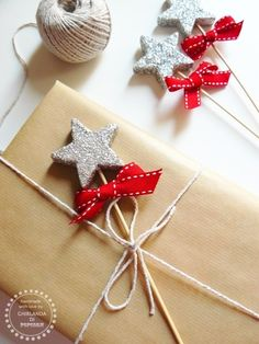 Star gift wrapping pinned with Pinvolve - pinvolve.co