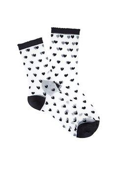 Sheer Heart Patterned Socks   FOREVER21   #f21accessorize