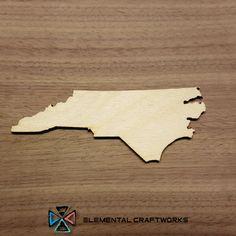 North Carolina NC State Cutout - Large & Small - Laser Cut Unfinished Wood Cutout Shapes (SO-0010-33)