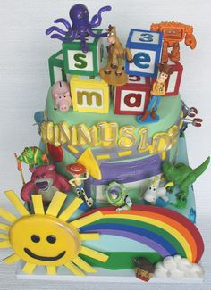 Toy Story 3 cake with action figures by Mili's Sweets