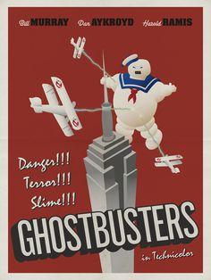 Ghostbusters (1984) - Minimal Movie Poster by Matt Owen ~ #mattowen #minimalmovieposters #alternativemovieposters
